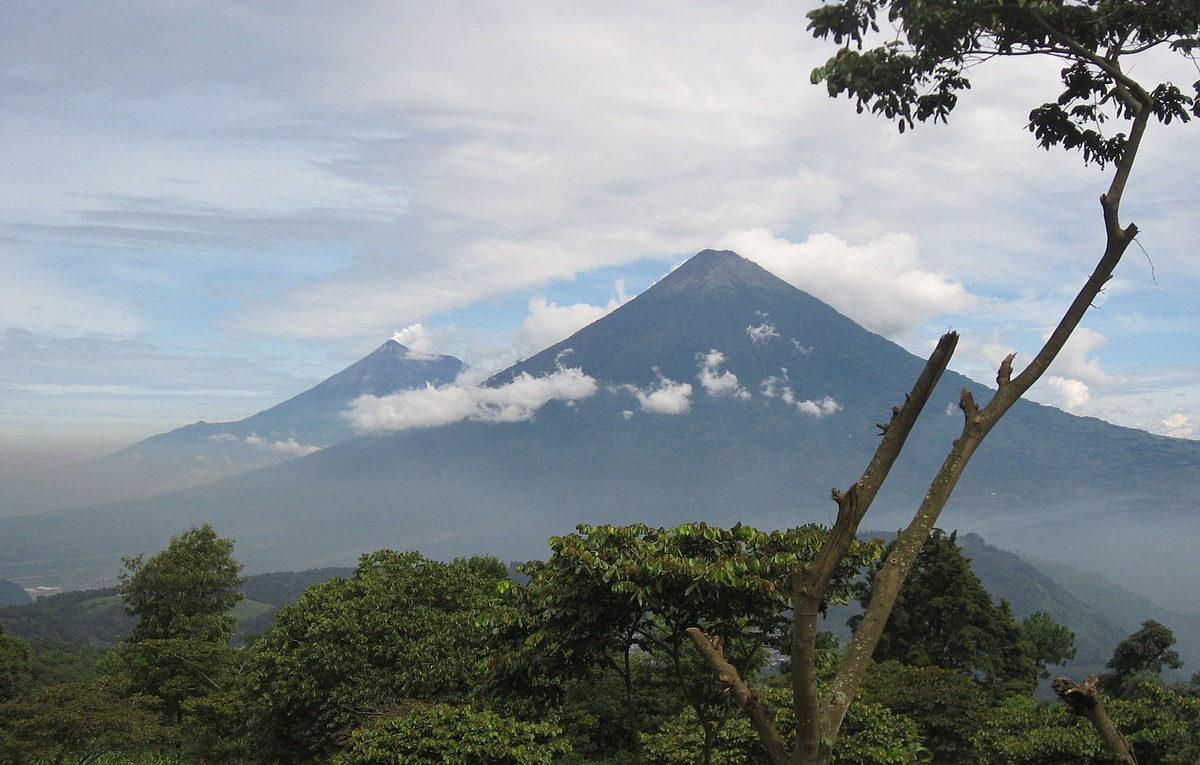 Guatemala vulkán